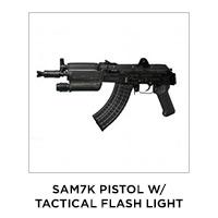 SAM7K Pistol w/ Tactical Flash Light